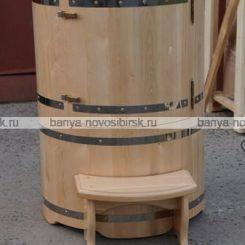 Кедровая бочка круглая со скосом 135 см 90 см!