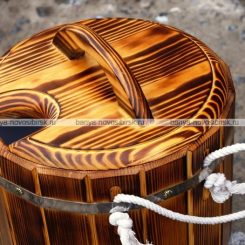 Запарник из термо древесины 20 литров с пластиковой вставкой