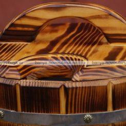 Запарник из термо древесины 14 литров с пластиковой вставкой