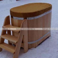 Купель для крещения кедровая 1300*780*900.