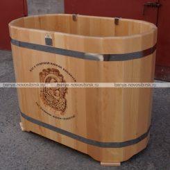 Купель овальная резная 1300*700*1000 мм (500 литров) кедр