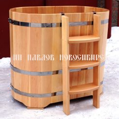 Купель овальная кедровая (Премиум)  140*78*120 см.