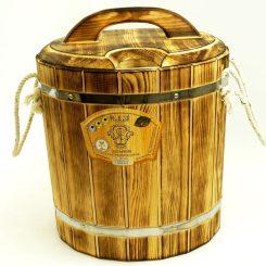 Запарник из термо древесины 20 литров с пластиковой вставкой.