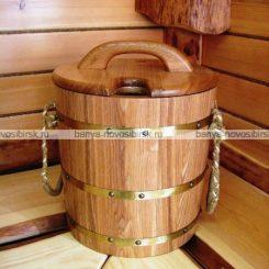 Запарник эксклюзивный с крышкой (с пластиковой вставкой) 20 литров, ясень