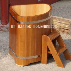 Угловая купель кедровая 1500*1500*1200 мм