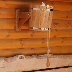 Обливное устройство (с пластиковой вставкой) 20 литров, дуб.