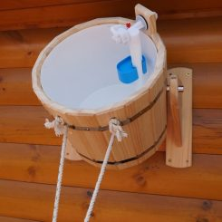 Обливное устройство (с пластиковой вставкой) 20 литров, кедр.