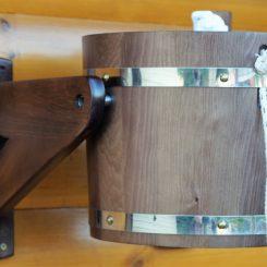 Обливное устройство лакированное 14 литров, цвет венге!