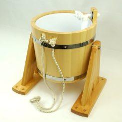 Обливное устройство (с пластиковой вставкой) под лак, 14 литров, кедр.