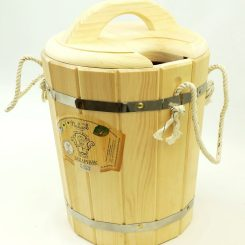 Запарник с крышкой 10 литров, кедр