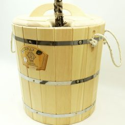 Запарник с крышкой 20 литров, кедр