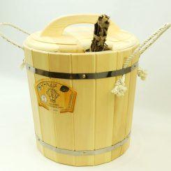 Запарник с крышкой (с пластиковой вставкой) 20 литров, кедр