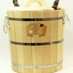 Запарник с крышкой (с пластиковой вставкой) 30 литров, кедр