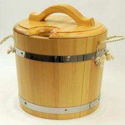 Запарник с крышкой (с пластиковой вставкой) под лак 14 литров, кедр
