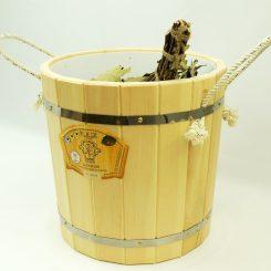 Запарник без крышки(с пластиковой вставкой), 20 литров, кедр