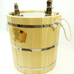 Запарник без крышки с пластиковой вставкой 30 литров, кедр