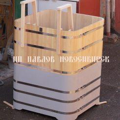 Купель прямоугольная кедровая 200 см*150 см*150 см Новинка!
