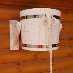 Обливное устройство Кракелюр белый с пластиковой вставкой 14 литров лак!