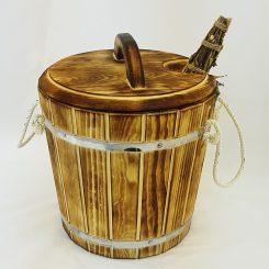 Запарник термо кедр нержавеющая вставка с крышкой 15 лит.