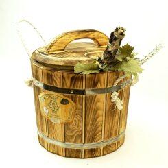 Запарник из термо древесины 14 литров с пластиковой вставкой.