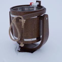 Обливное устройство с нержавеющей вставкой премиум моренный дуб 20 лит.